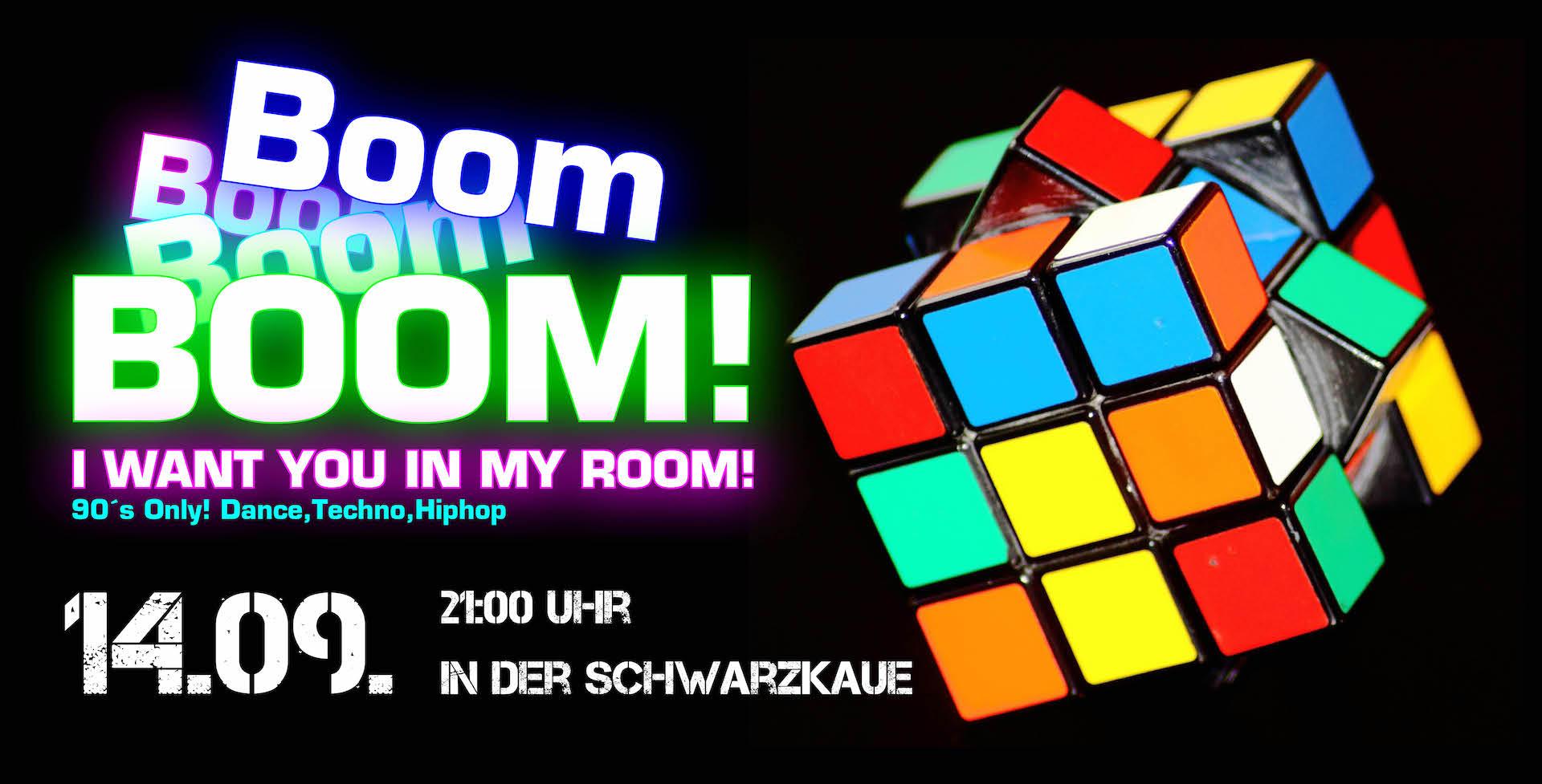 Banner BOOM 90er Party
