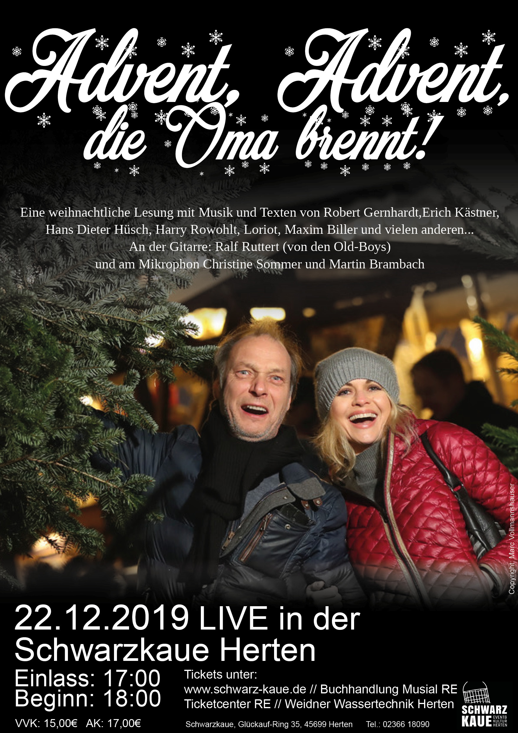 Advent Advent die Oma brennt